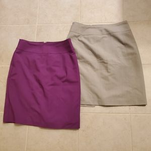 TWO pencil skirts -size 8